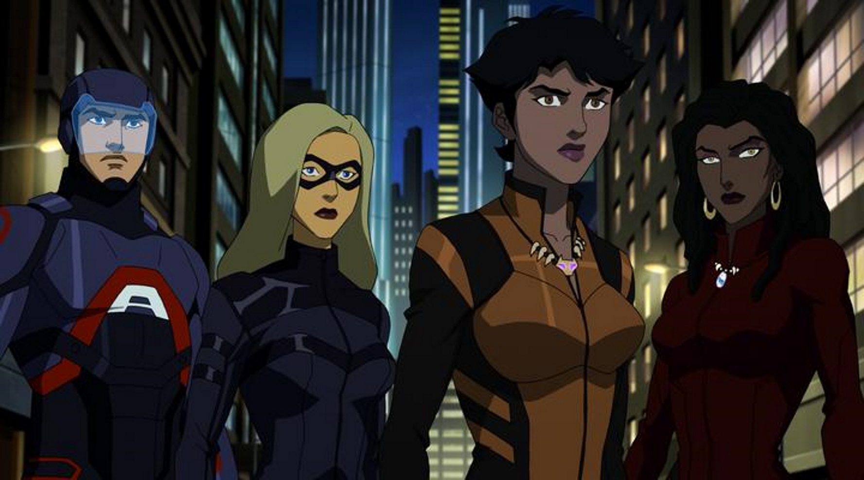 Megalyn Echikunwoke, Brandon Routh, and Katie Cassidy in Vixen (2015)