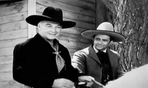 William Boyd and Rick Vallin in Hopalong Cassidy (1952)