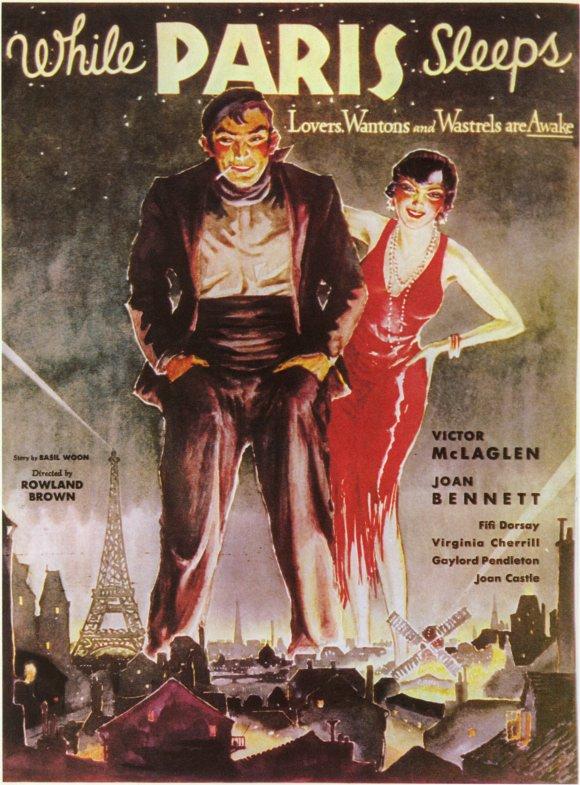 Rita La Roy and Victor McLaglen in While Paris Sleeps (1932)