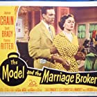 Jeanne Crain and Scott Brady in The Model and the Marriage Broker (1951)