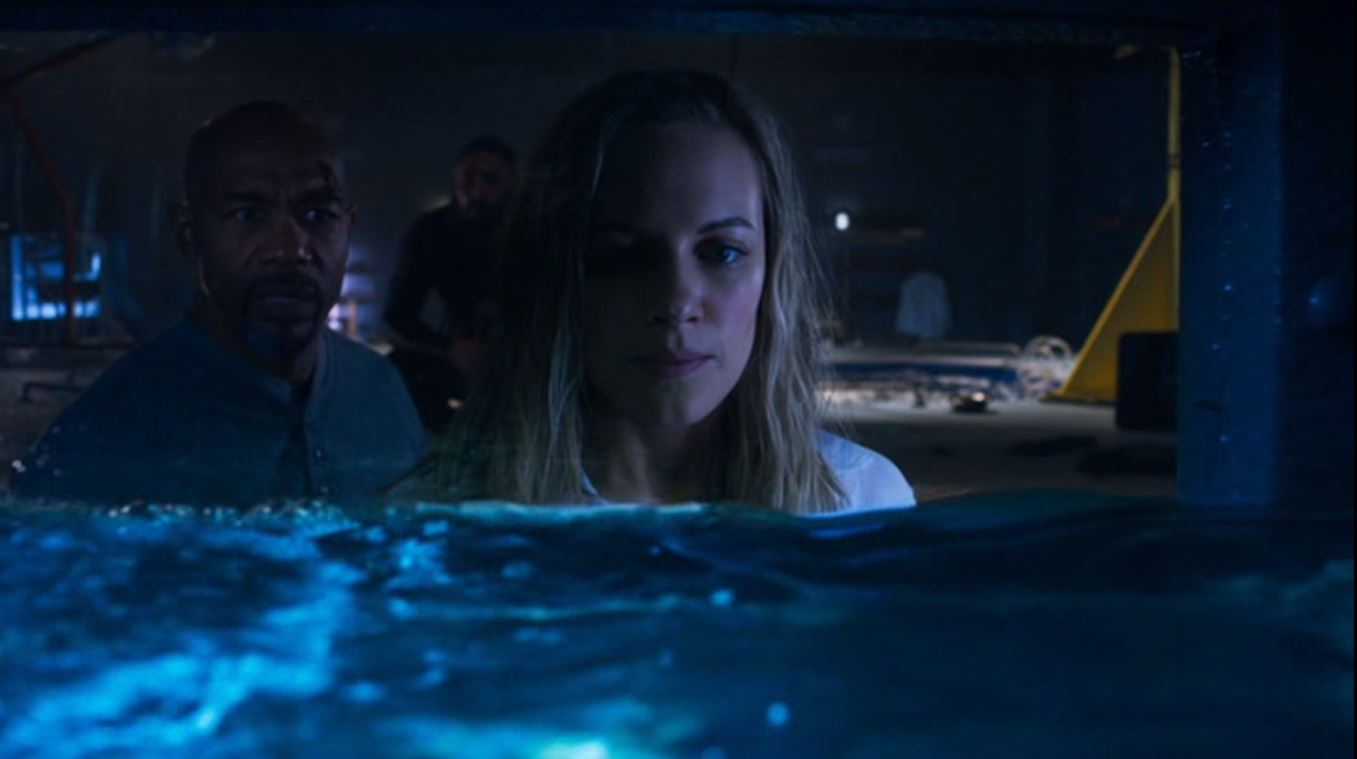 Michael Beach and Danielle Savre in Deep Blue Sea 2 (2018)