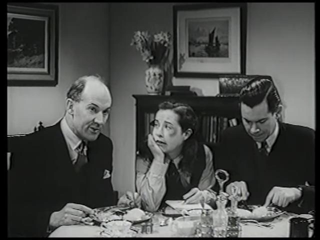 Margaret Barton, Nigel Buchanan, and Frederick Piper in Fly Away Peter (1948)
