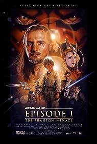 Ewan McGregor, Natalie Portman, Anthony Daniels, Liam Neeson, Jake Lloyd, Kenny Baker, Ahmed Best, and Ray Park in Star Wars: Episode I - The Phantom Menace (1999)