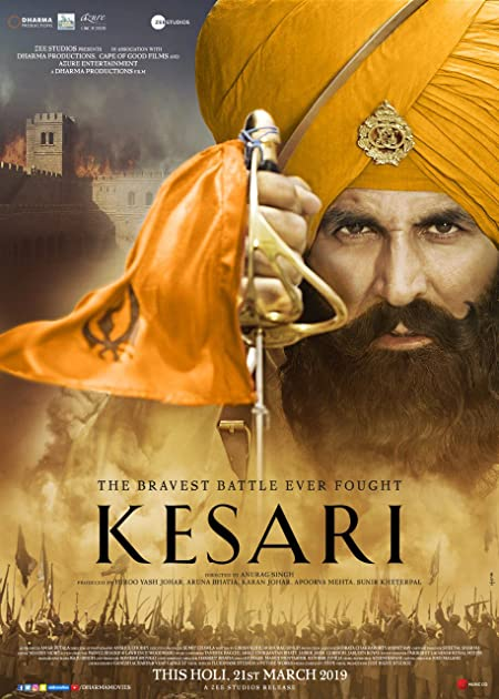 Kesari (2019) Hindi 720p Blu-Ray x265 AAC 800MB