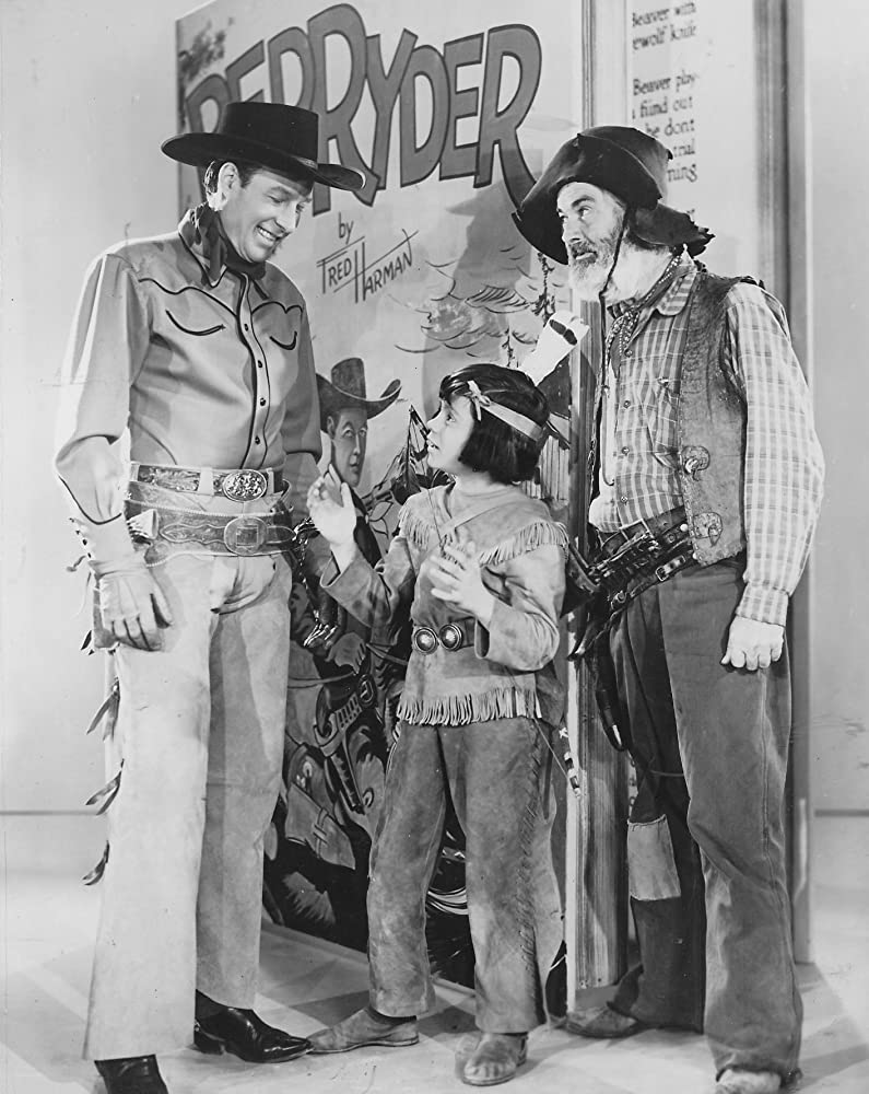 Robert Blake, Bill Elliott, and George 'Gabby' Hayes in Tucson Raiders (1944)
