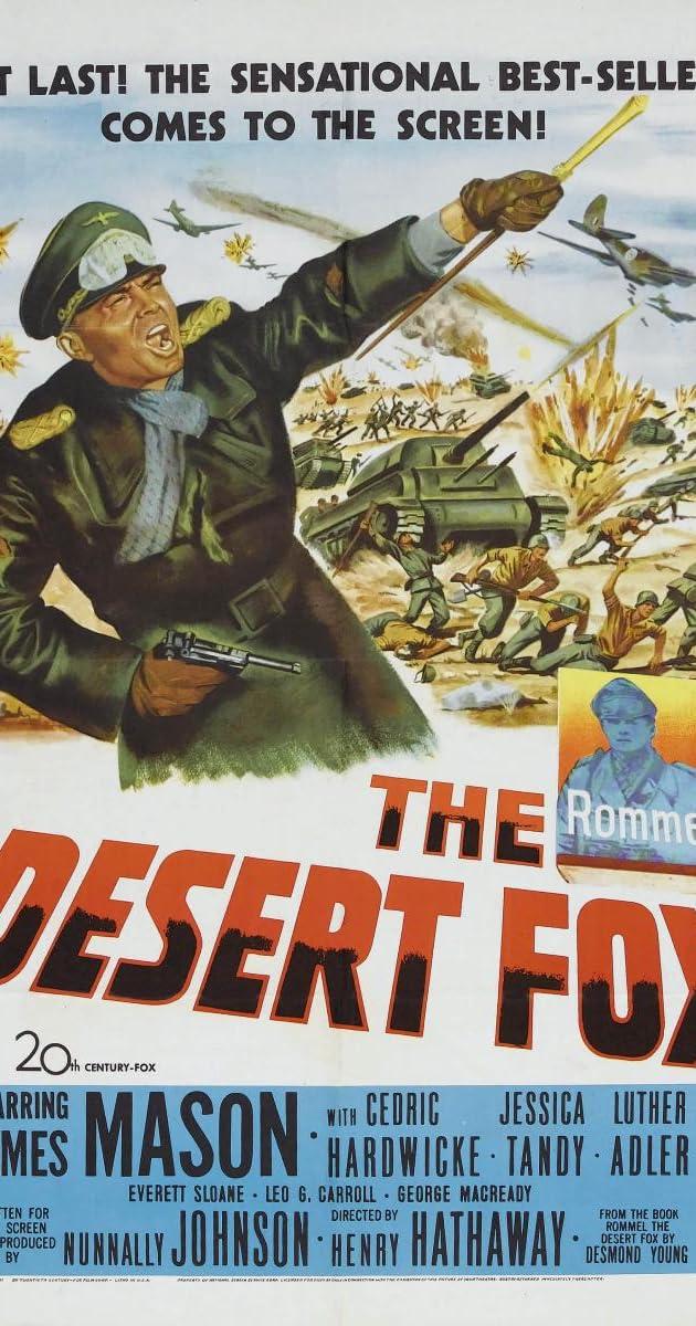 Subtitle of The Desert Fox: The Story of Rommel