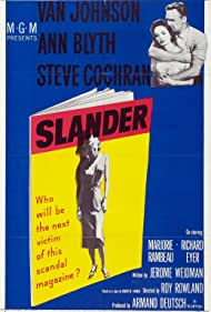 Ann Blyth and Van Johnson in Slander (1957)