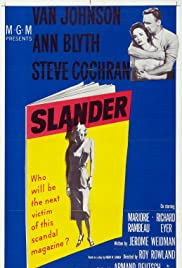 Slander(1957) Poster - Movie Forum, Cast, Reviews