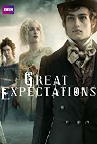 Gillian Anderson, Douglas Booth, and Vanessa Kirby in Great Expectations (2011)