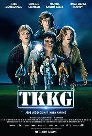 Manuel Santos Gelke, Emma-Louise Schimpf, Ilyes Moutaoukkil, and Lorenzo Germeno in TKKG (2019)