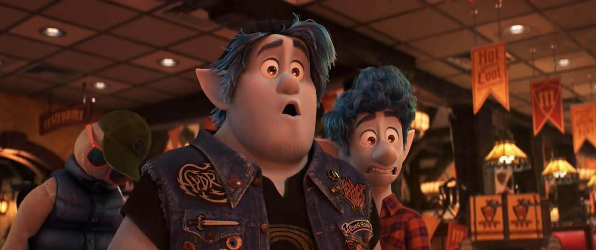 Chris Pratt and Tom Holland in Onward (2020)