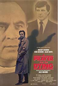 Mickey Rourke, Alan Bates, and Bob Hoskins in A Prayer for the Dying (1987)