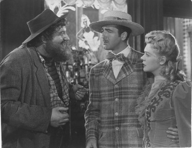 Laird Cregar, Alice Faye, and John Payne in Hello Frisco, Hello (1943)
