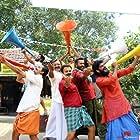 Kunchacko Boban, Manoj K. Jayan, Renji Panicker, Aneesh Menon, S.V. Krishna Shankar, Shereej K. Basheer, and Nandhan Unni in Valliyum Thetti Pulliyum Thetti (2016)