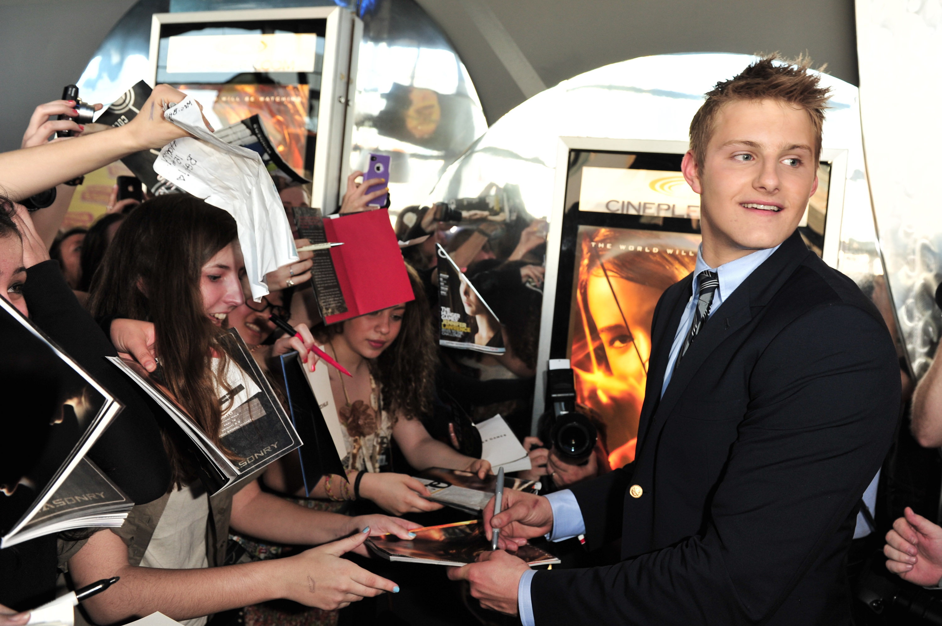 Alexander Ludwig at an event for The Hunger Games (2012)