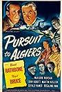 Basil Rathbone, Nigel Bruce, Rosalind Ivan, Martin Kosleck, Marjorie Riordan, and Leslie Vincent in Pursuit to Algiers (1945)