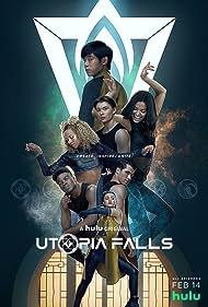 Robbie Graham-Kuntz, Devyn Nekoda, Robyn Alomar, Phillip Lewitski, Akiel Julien, Mickeey Nguyen, and Humberly González in Utopia Falls (2020)