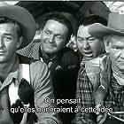 Robert Mitchum, Wally Brown, Alan Carney, and Paul Hurst in Girl Rush (1944)