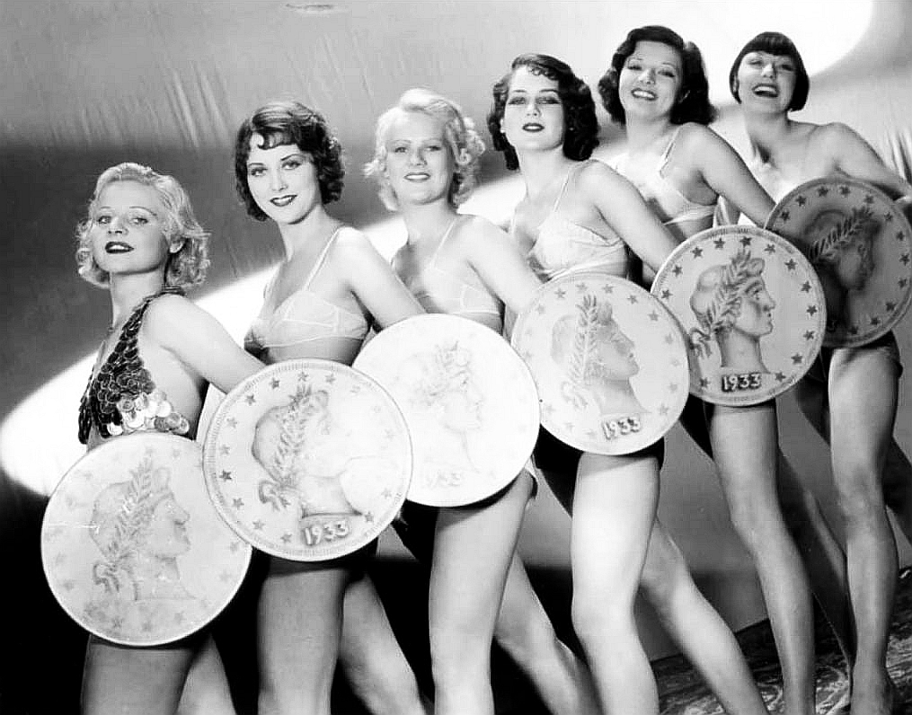 Monica Bannister, Bonnie Bannon, Marion Sayers, Bee Stevens, Anita Thompson, and Mildred Dixon in Gold Diggers of 1933 (1933)