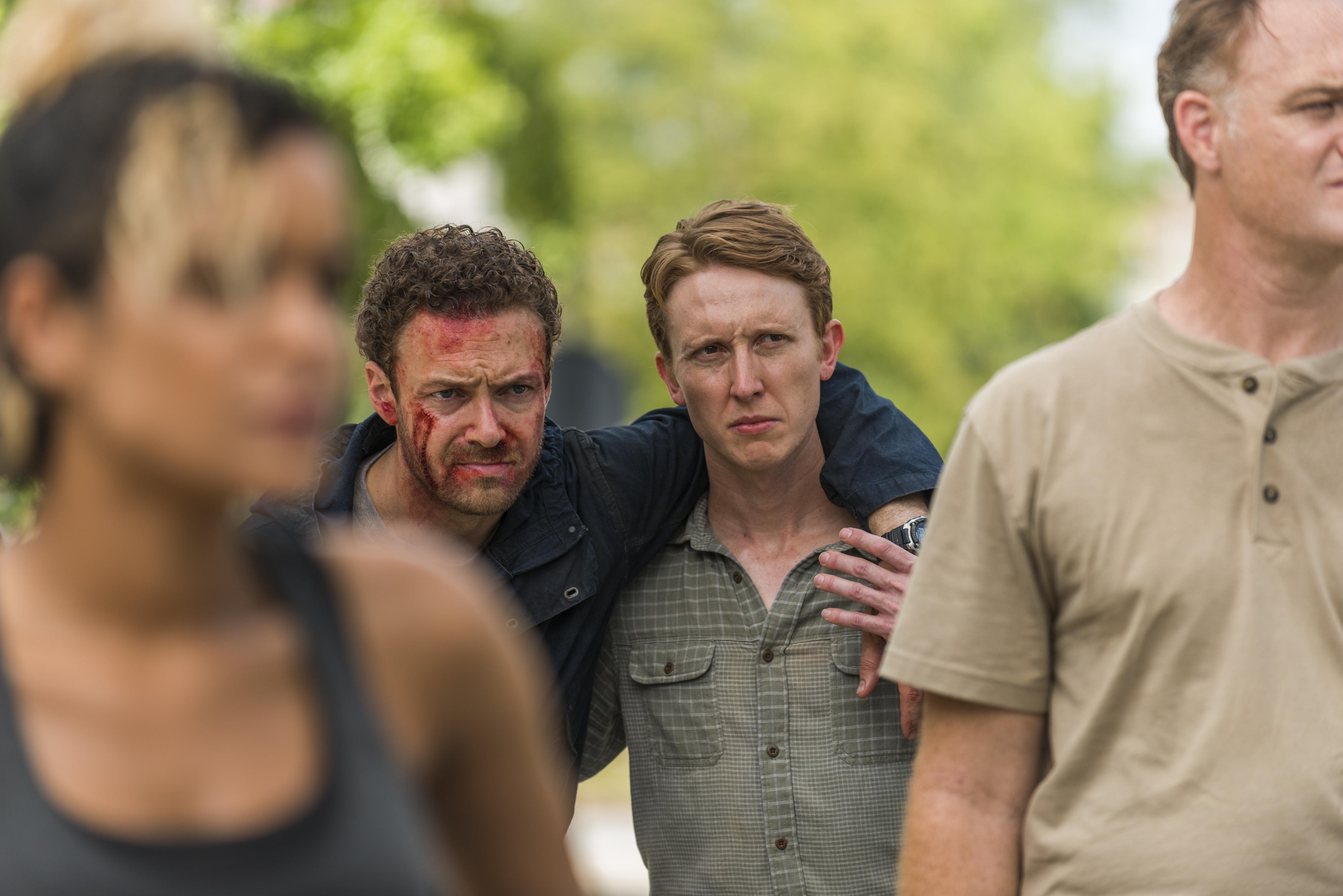 Jason Douglas, Ross Marquand, Jordan Woods-Robinson, and Elizabeth Faith Ludlow in The Walking Dead (2010)