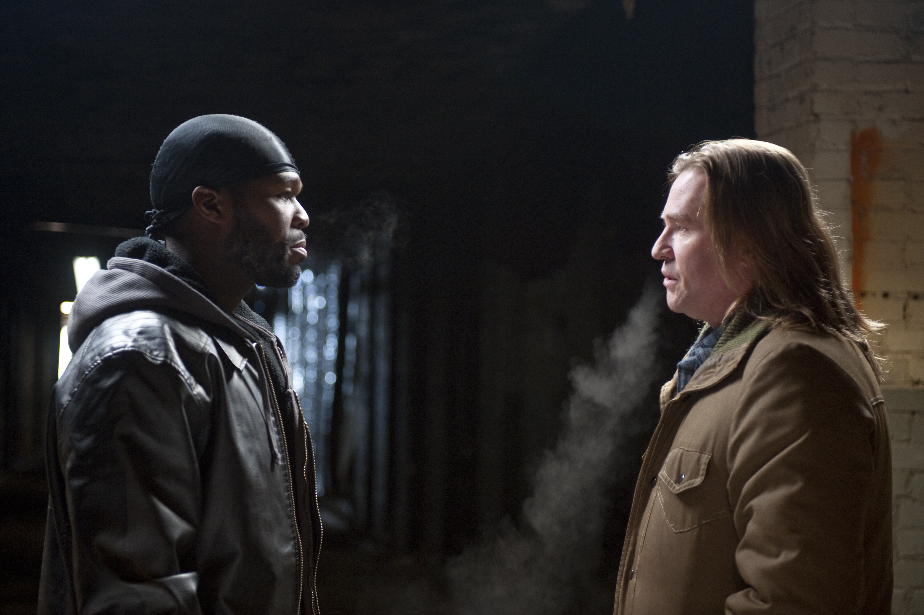 Val Kilmer and 50 Cent in Gun (2010)