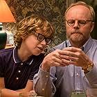Ethan Rouse and Jason Watkins Filming Love Nina.