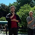 Ramon Rodriguez, Finn Jones, and Anand Bhatt in Iron Fist (2017)