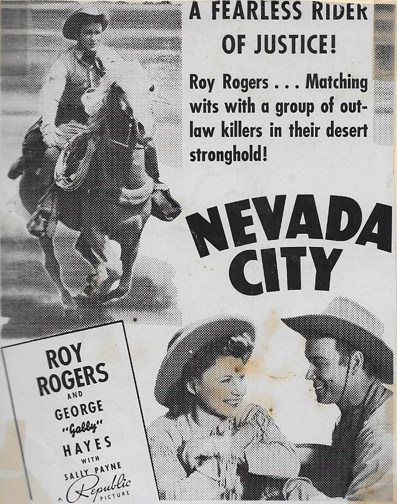 Roy Rogers, Sally Payne, and Trigger in Nevada City (1941)