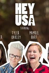 Flula Borg, Colleen Ballinger, Mamrie Hart, Jenna Marbles, Tyler Oakley, and Kingsley in HeyUSA (2014)