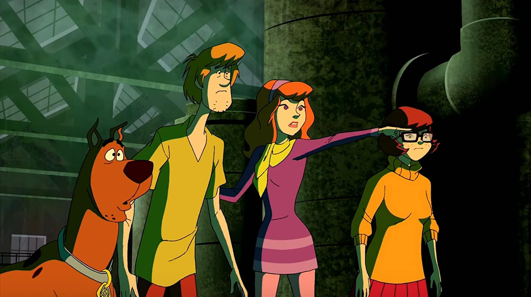 Matthew Lillard, Mindy Cohn, Grey Griffin, and Frank Welker in Scooby-Doo! Mystery Incorporated (2010)