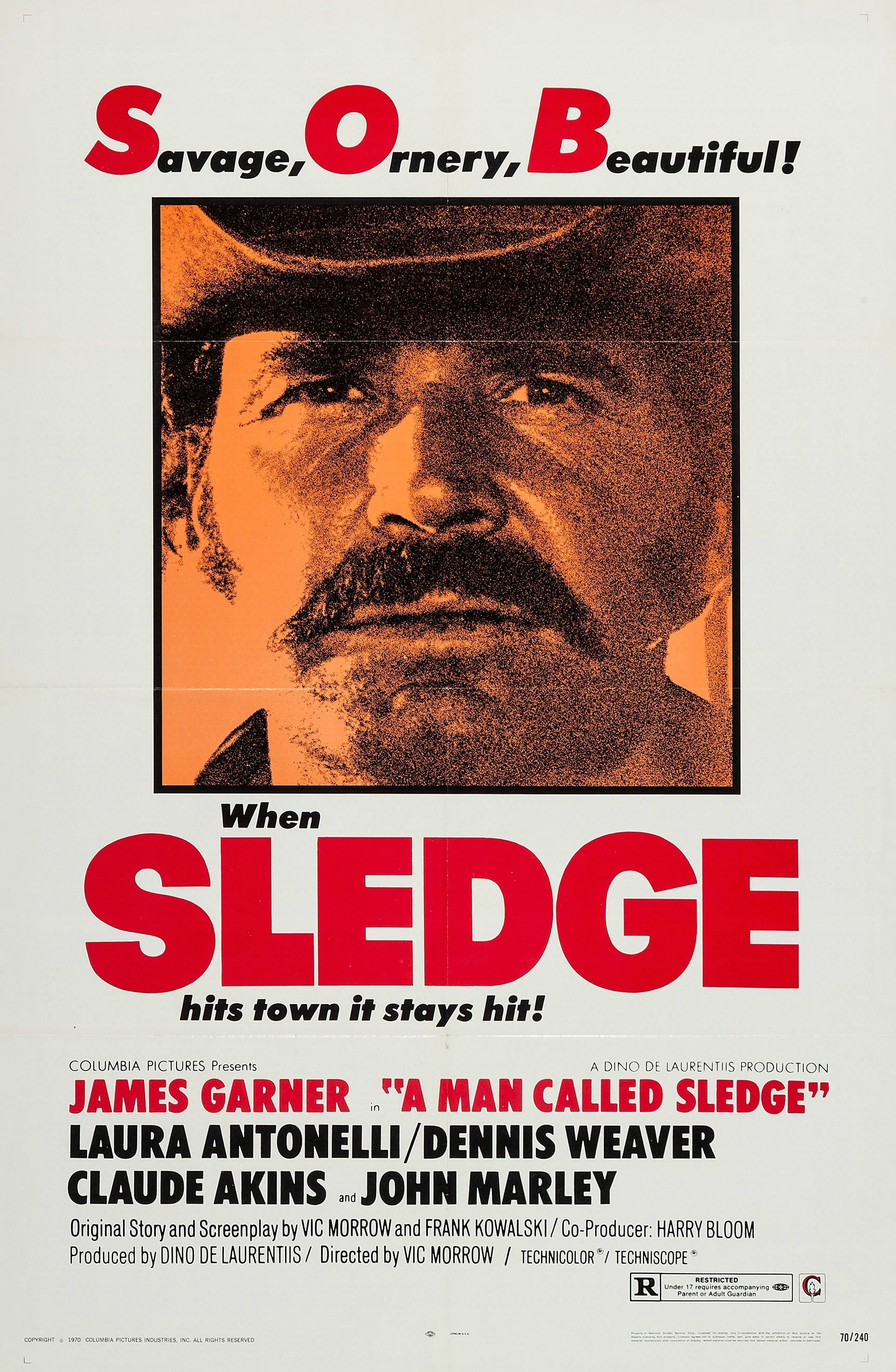 James Garner in A Man Called Sledge (1970)