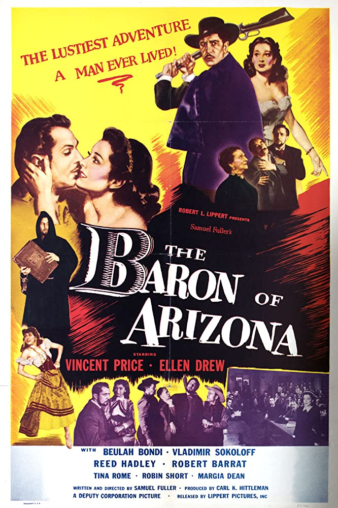Vincent Price, Beulah Bondi, Ellen Drew, Tina Pine, and Vladimir Sokoloff in The Baron of Arizona (1950)