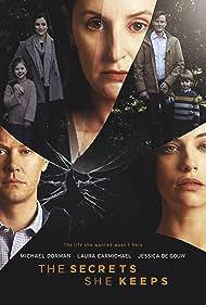 Michael Dorman, Jessica De Gouw, and Laura Carmichael in The Secrets She Keeps (2020)