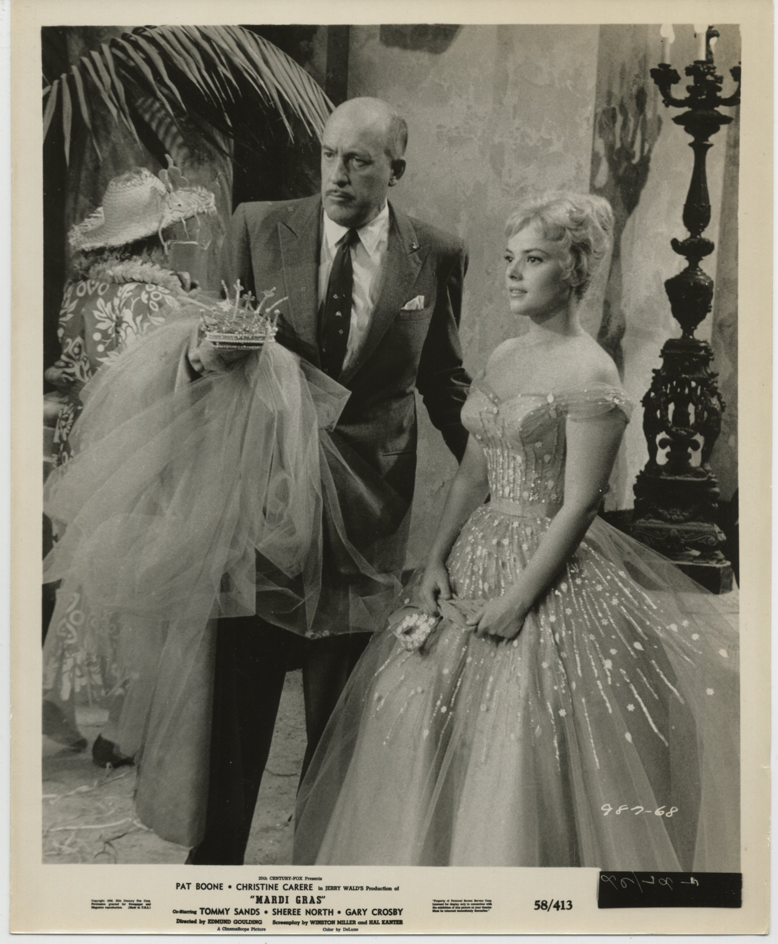 Christine Carère and Fred Clark in Mardi Gras (1958)