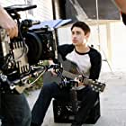 BEHIND THE SCENES: Actor PARIS DYLAN on set of the romantic comedy, 'Across the Pond'. HOLLYWOOD, CA.
