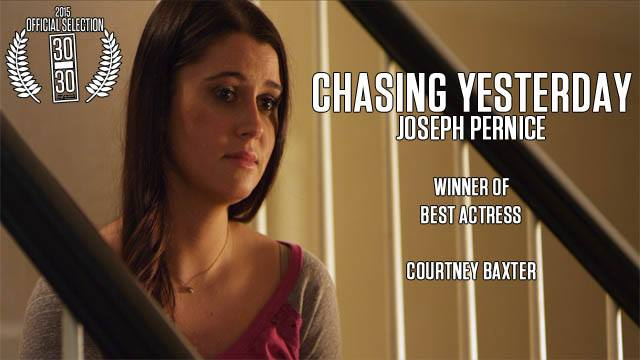 """Courtney Baxter, 2015 winner of Best Actress in the """"30 Under 30 Film Festival"""" NY NY, for her performance as Jenny in Chasing Yesterday"""