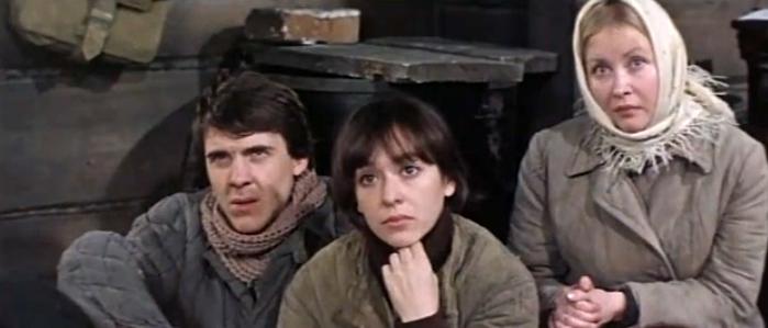 Vladimir Nekrasov, Svetlana Ryabova, and Marina Sakharova in Osoboye podrazdeleniye (1984)