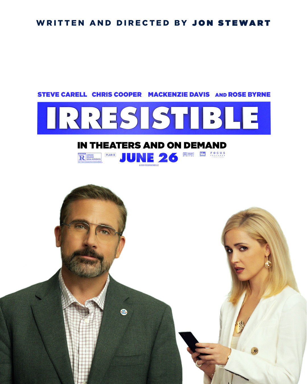 Irresistible (2020) HDRip – 720p – x264 – [Hindi (Fan Dub) + Eng] – 750MB