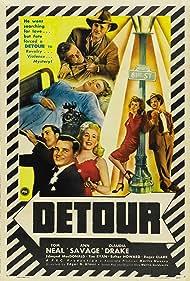 Claudia Drake, Edmund MacDonald, Tom Neal, and Ann Savage in Detour (1945)