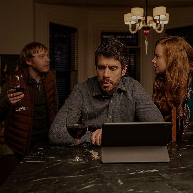 Lauren Ambrose, Rupert Grint, and Toby Kebbell in Servant: Pizza (2021)
