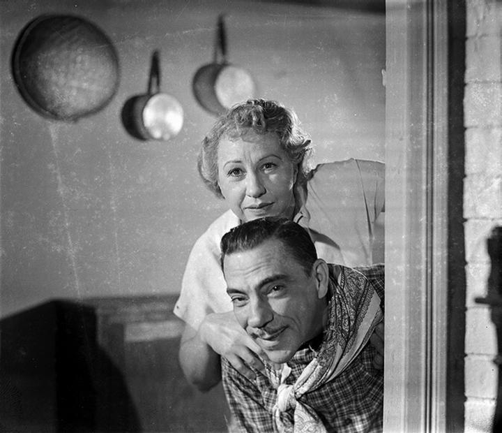 Procópio Ferreira and Henriette Morineau in O Comprador de Fazendas (1951)