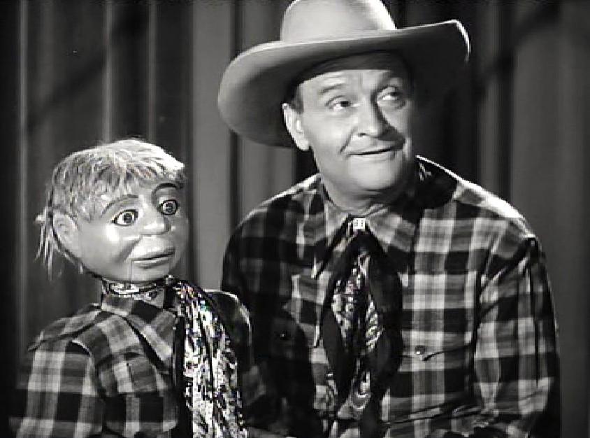 Max Terhune and Elmer in Cowboy Canteen (1944)