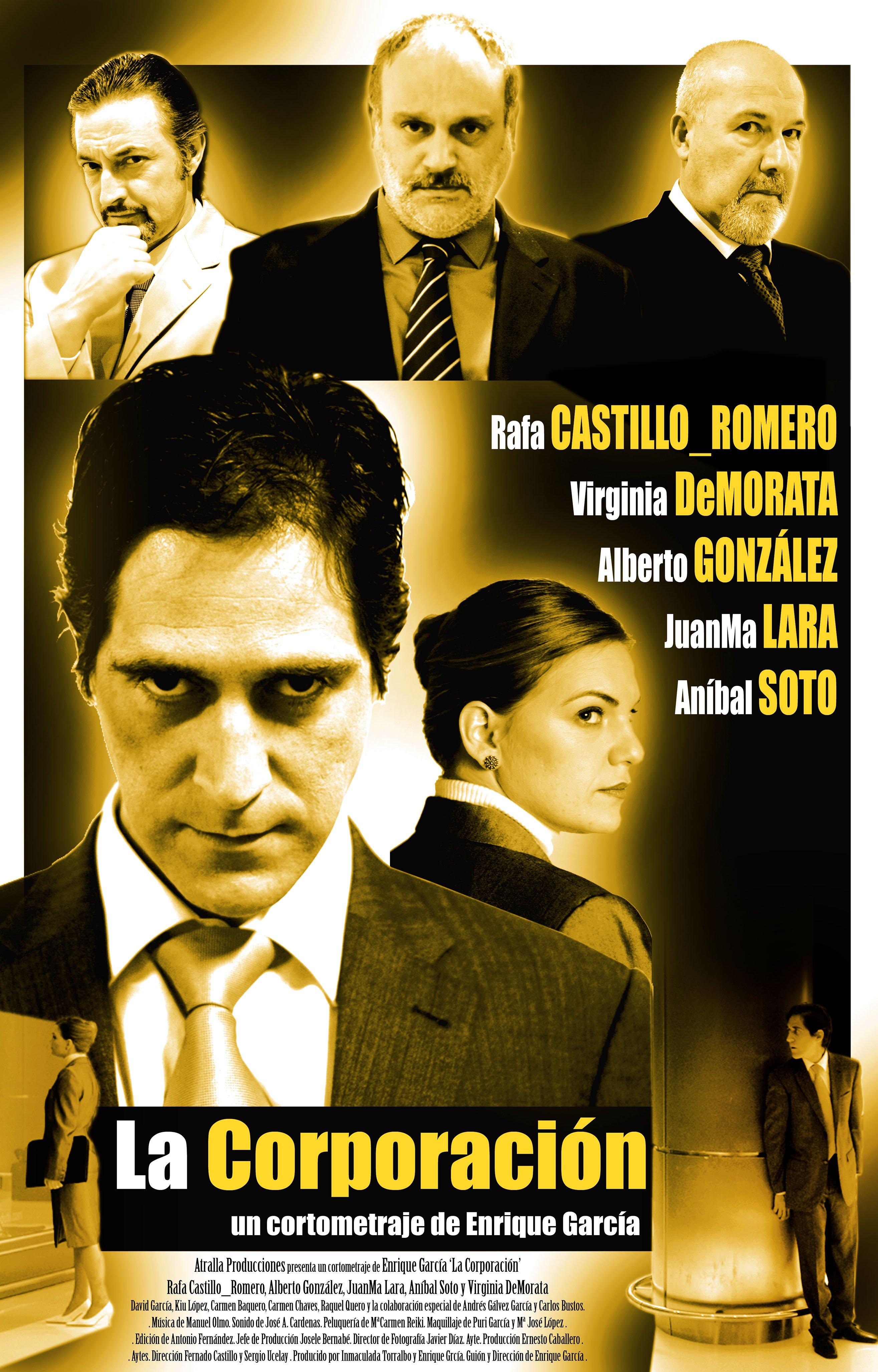 Alberto González, Aníbal Soto, Juanma Lara, Virginia de Morata, and Rafa Castillo-Romero in La Corporación (2008)