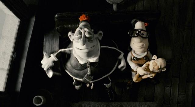 Philip Seymour Hoffman and Toni Collette in Mary and Max (2009)