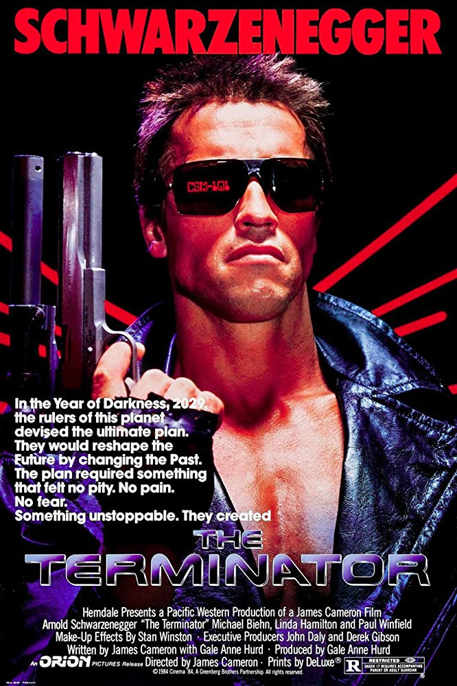 Arnold Schwarzenegger in The Terminator (1984)
