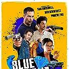 Sam Rockwell, Peter Ferdinando, Ben Schwartz, and Phoebe Fox in Blue Iguana (2018)
