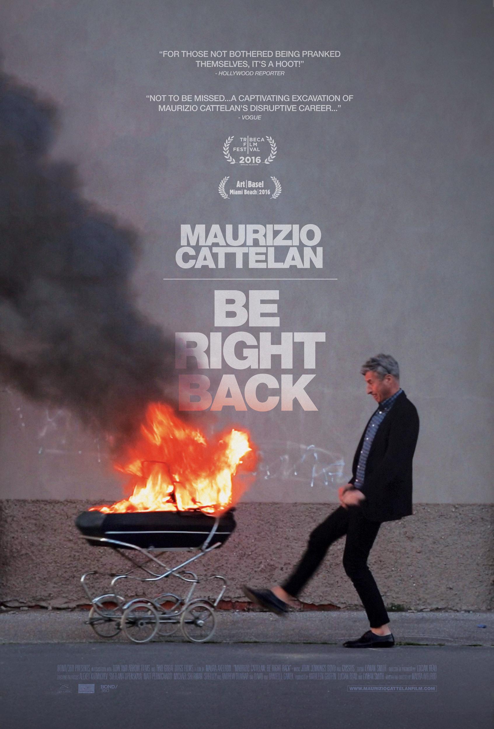 maurizio cattelan be right back 2016 imdb