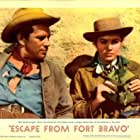 John Forsythe and Eleanor Parker in Escape from Fort Bravo (1953)