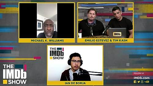 Emilio Estevez Gets a LIVE Surprise from Michael K. Williams for 'The Public'