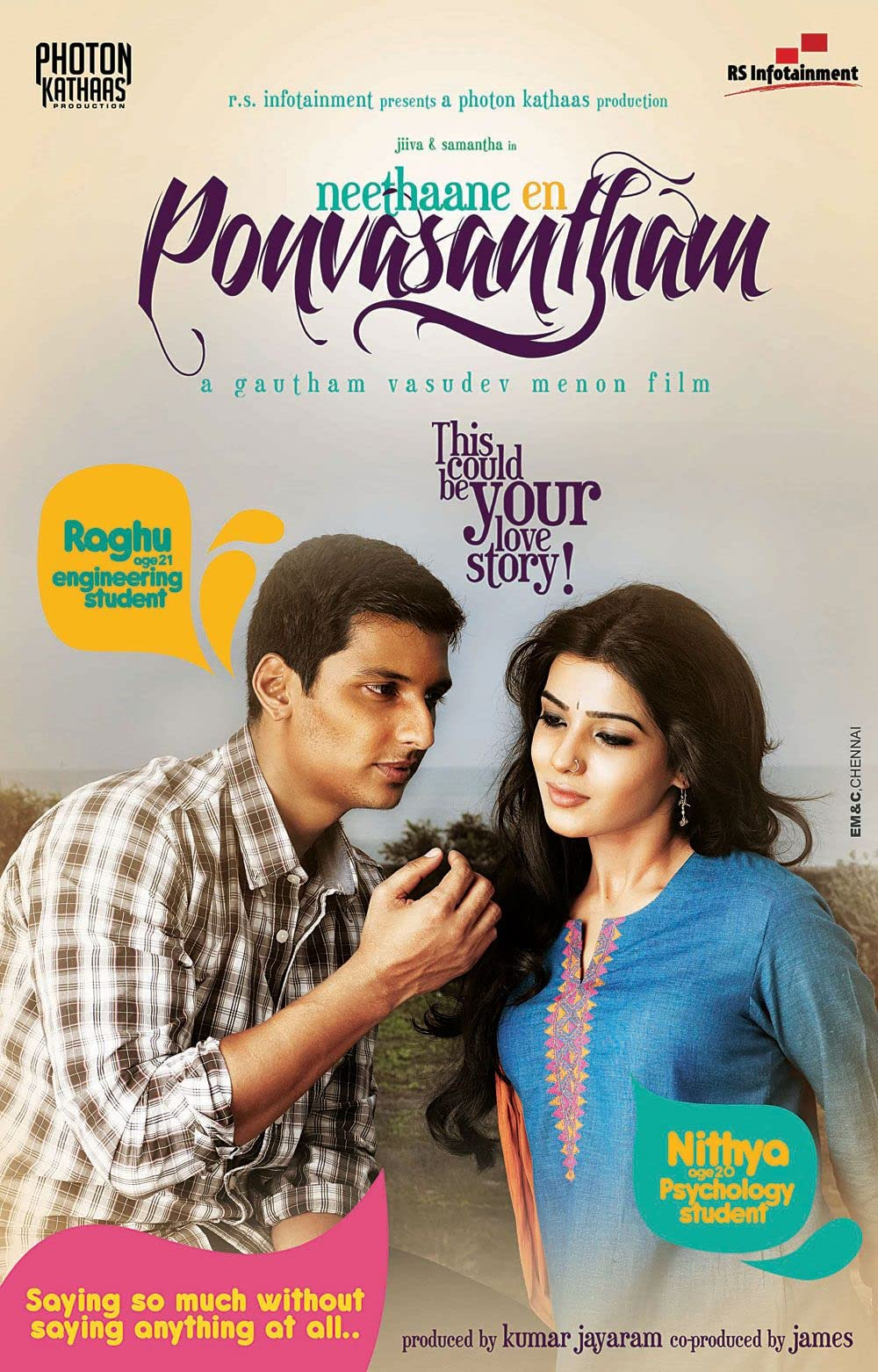 Neethaane En Ponvasantham (2012) Hindi Dubbed
